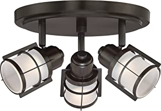 Quoizel WNS1610WT Winside Directional Spot Light Flush Mount Ceiling Lighting, 3-Light, LED 15 Watts, Western Bronze (7