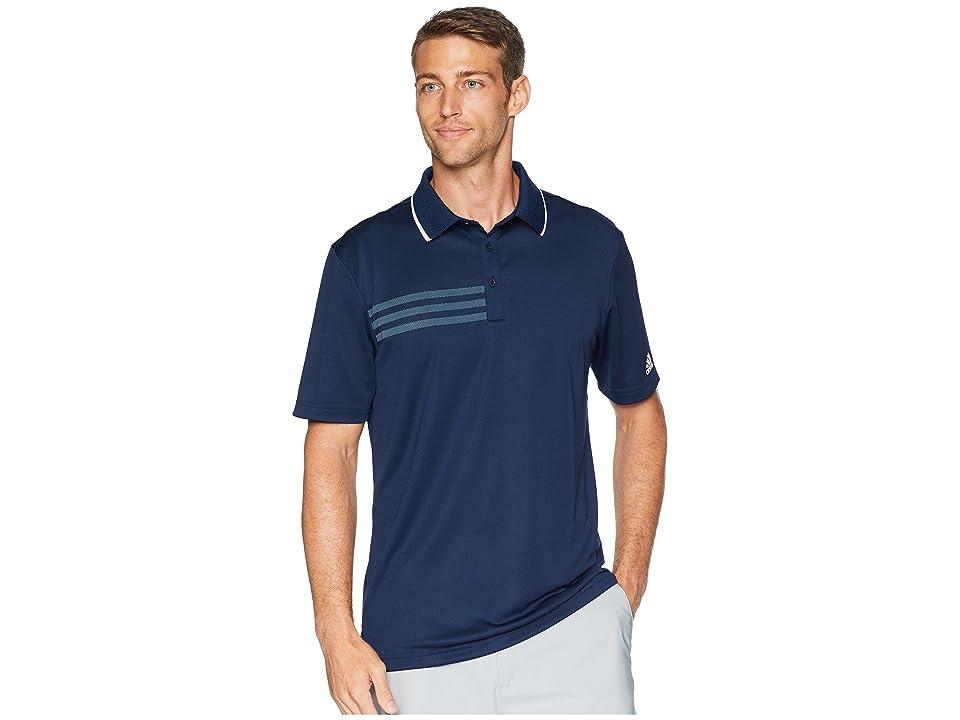 adidas Golf 3-Stripes Pique Polo (Collegiate Navy) Men