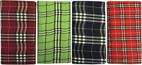 Scottish Plaid Rollup Double Pocket Tri Fold Pipe Pouch Asst Prints 1158