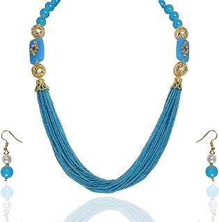 Sansar India Jewellery Set for Women (Blue) (852)