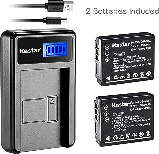 Kastar Battery (X2) & LCD Slim USB Charger for Panasonic CGA-S007, CGA-S007A, CGR-S007, CGAS007 and Panasonic DMC-TZ1 DMC-TZ2 DMC-TZ3 DMC-TZ4 DMC-TZ5 DMC-TZ11 DMC-TZ15 DMC-TZ50 Digital Camera