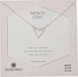 Infinite Love, Heart with Bloom-Love Charm Necklace