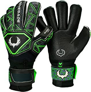 Renegade GK Triton Goalie Gloves (Sizes 5-11, 3 Styles, Level 2) Pro-Tek Fingersaves & Durable 4mm Super Grip | Great Hard Ground Goalkeeper Glove | Superior Grip & Protection | Based in The U.S.A.