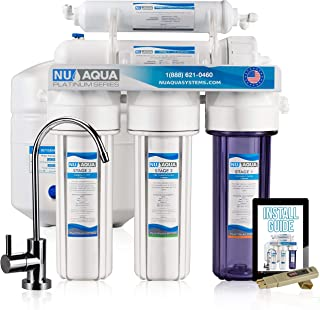 NU Aqua Platinum Series Deluxe High Capacity 100GPD 5-Stage Under Sink Reverse Osmosis..