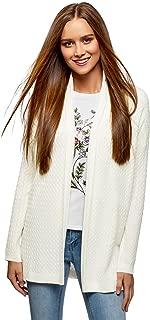 oodji Collection Donna Cardigan Senza Chiusura con Tasche Decorative