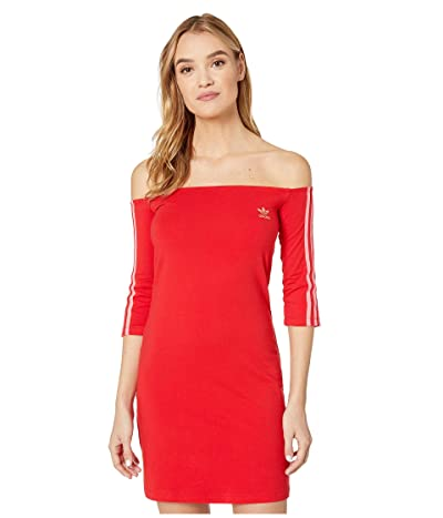adidas Originals Shoulder Dress (Scarlet) Women