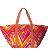 M Missoni - Zigzag Canvas Beach Bag