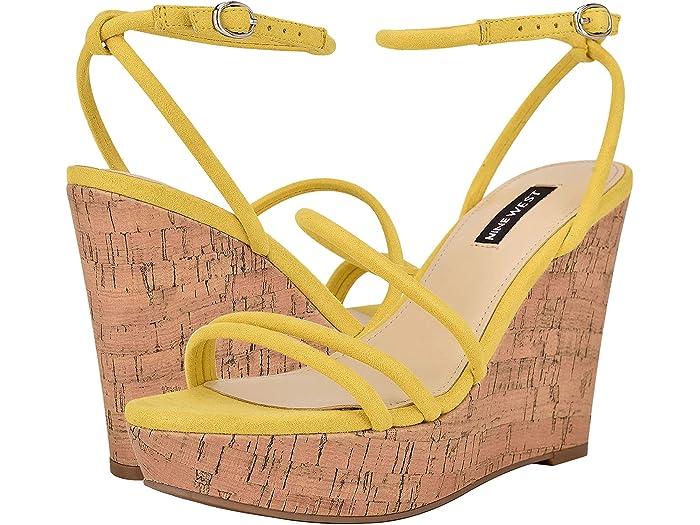 Nine West Havi Ankle Wrap Cork Wedge Sandals