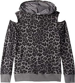 Leopard Print Hoodie (Big Kids)