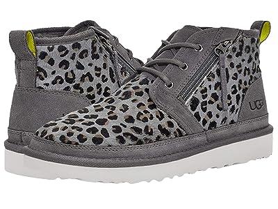 UGG Neumel Zip Leopard (Dark Grey) Men