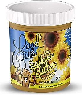 Laurel's Butter - Sunflower Butter - NUT FREE, NO sugar, Vegan, Gluten Free - 8 oz