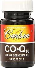 Carlson Labs Co-Q-10 100mg, 30 Softgels