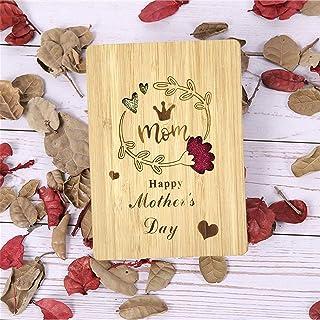 Fête des Mères Carte de Vœux en Bois Merci Pour la Meilleure des Mères Carte de Vœux Design avec Enveloppes, Excellent Cad...