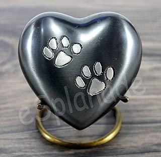 eSplanade Heart Shaped Pet Cremation urn Memorial Container Jar Pot   Brass Urns  Metal Urns  Burial Urns  Memorial Keepsake  Urns for Pets, Dogs, Cats