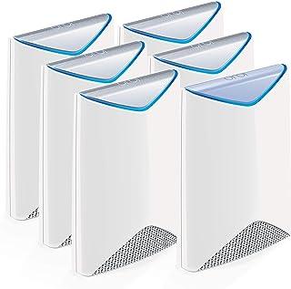 Netgear SRK60B06 Orbi Pro 6 unità WiFi Mesh, copertura negozi, bar e uffici fino a 1050 mq e 240 dispositivi collegati, so...