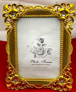Royal Golden Frame, 5X7, Designer Edges, Best for Gifting, Hang ON Wall/Keep ON Shelf, Highly DEMANDED for Gifting