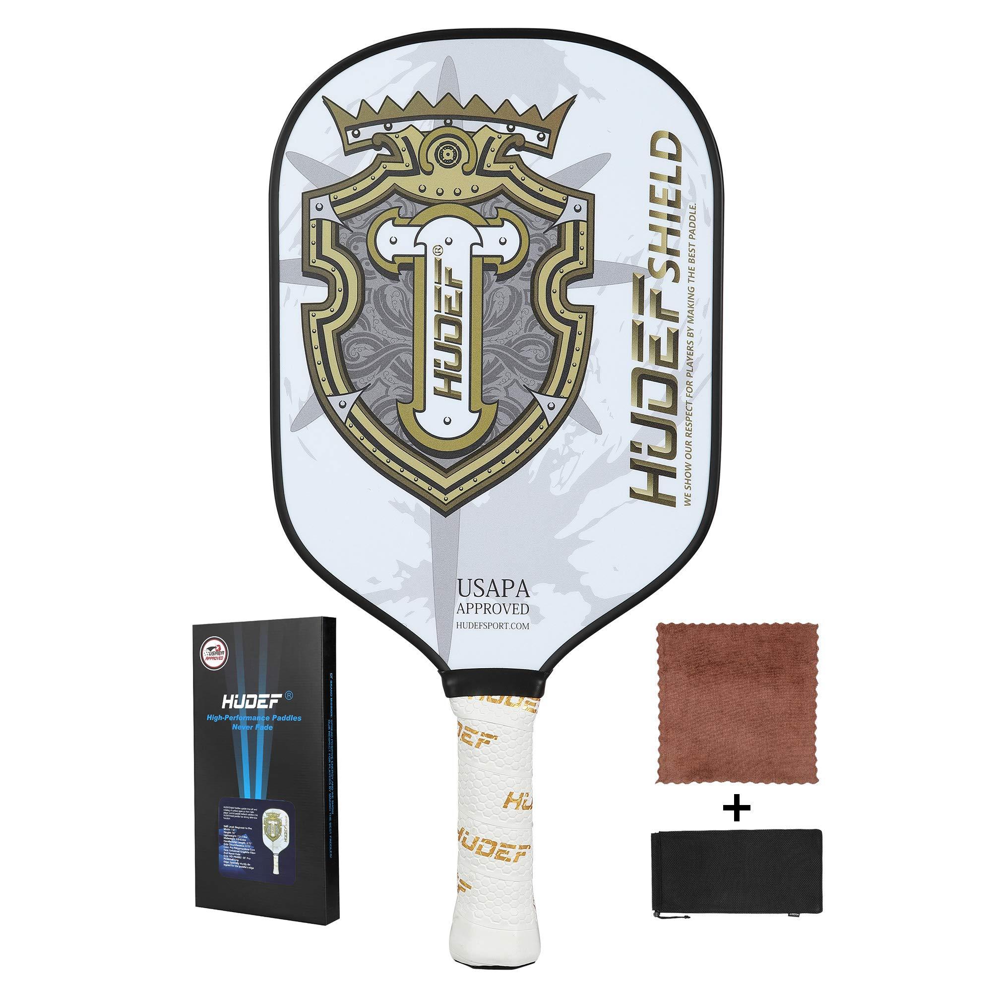 HUDEF Pickleball Paddles Racket Graphite Carbon Fiber  -TLVK