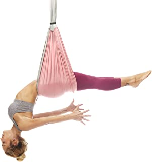 YOGABODY Yoga Trapeze [Official] – Yoga Swing/Sling/Inversion Tool, Baby Pink with Free DVD