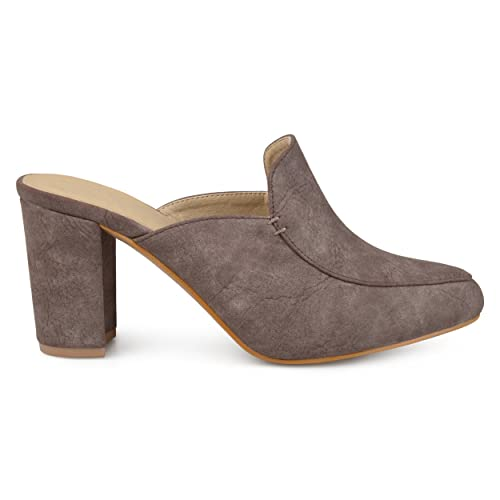 602519d02a0d7 Womens Thirza Block Heel Distressed Loafer Mules