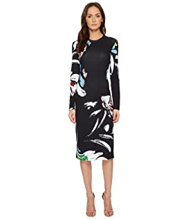 Printed Viscose Long Sleeve Dress