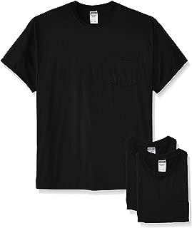 Men's Adult Short-Sleeve Pocket T-Shirts (3-Pack)