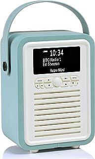 VQ Retro Mini DAB+ Digital Radio with AM, FM, Bluetooth & Alarm Clock - Mint