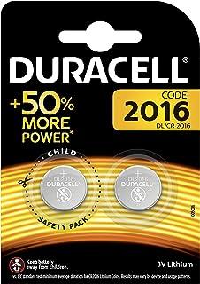 Duracell Specialty 2016 Lithium Knopfzelle 3V, 2er Packung (CR2016 /DL2016) entwickelt für die Verwendung in Schlüsselanhängern, Waagen, Wearables und medizinischen Geräten.