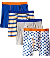 Trimfit - Football Cotton Boxer Briefs 4-Pack (Toddler/Little Kids/Big Kids)