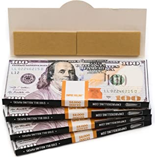 EMPIRE ROLLING - Four Pack Wallets $100 Bill Rolling Paper (80 Papers) - BENNY1 3/4 Inches | Made from Pure All Natural Ingredients | Premium Quality Paper, Organic, 100% Vegan, Non-GMO, Unbleached