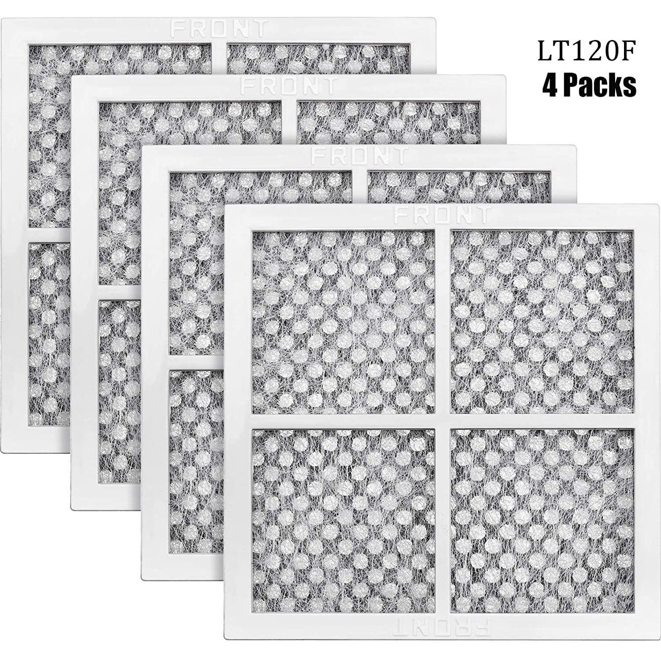 Hotop 4 Packs LT120F Refrigerator Air Filter Compatible with LG and Kenmore Refrigerator Replace for LG ADQ73214404, ADQ73214402 and Kenmore 469918