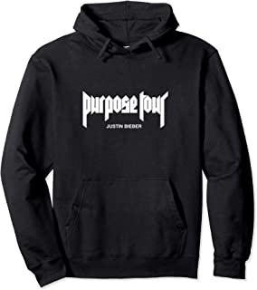 White Purpose Tour Merch Logo Hoodie