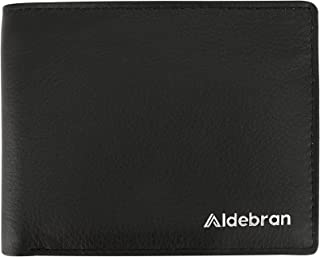 Aldebran Men's RFID Protected Chrome tanned and Soft leather 8 credit card 2 ID Windows Full Grain Leather Wallet for men ...
