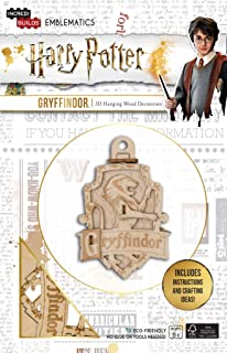 Harry Potter Gryffindor Emblematics Wood Model Ornament Kit - Build, Paint and Collect Your Own 3-D Gryffindor House Crest Hanging Ornament - Ages 8+ - 2.5