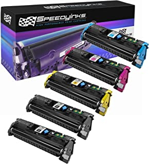 Speedy Inks Remanufactured Toner Cartridge Replacement for HP 122A (2 Black, 1 Cyan, 1 Magenta, 1 Yellow, 5-Pack)