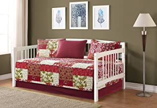 Fancy Collection 5pc Day Bed Cover Floral Beige Red Green Brown Burgundy New #51