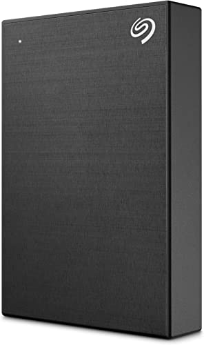 Seagate One Touch 5TB External Hard Drive HDD – Black USB 3.0 for PC Laptop and Mac, 1 Year MylioCreate, 4 Months Ado...