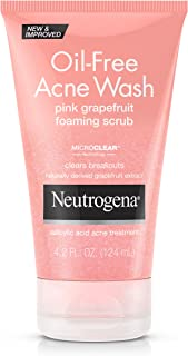 Neutrogena Oil-Free Acne Wash Foaming Scrub Pink Grapefruit 124 ml