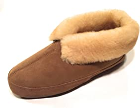 qwaruba mens sheepskin slippers