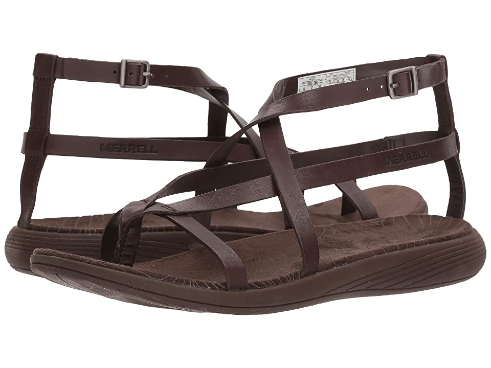 Merrell Duskair Seaway Thong Leather (Bracken) Women