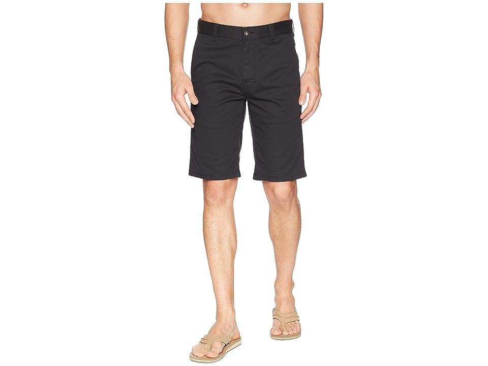 Prana Table Rock Chino Shorts (Black) Men