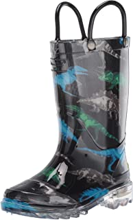 Boys' Light-Up Waterproof Rain Boot