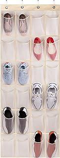 KEETDY Over The Door Shoe Organizers Door Shoe Rack with 24 Large Mesh Pockets Hanging Shoe Holder Hanger for Closet Stora...