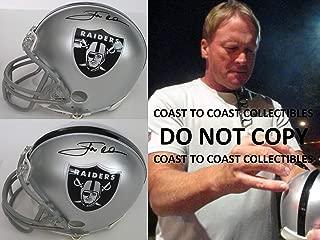 Jon Gruden Oakland Raiders signed autographed, mini helmet, COA exactproof