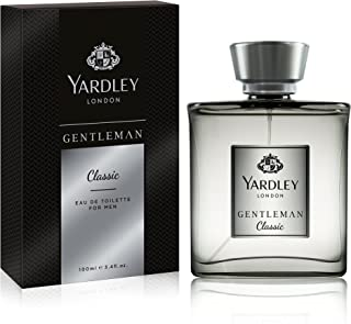 Yardley Gentleman Classic luxury fragrance Eau de Parfum, Citrus, Black pepper and spicy blend of cardamom, 100ml
