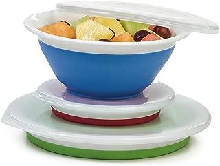 Progressive Prepworks Thinstore Collapsible Prep/Storage Bowls with Lids - Set of 3