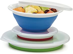 Progressive Prepworks Thinstore Collapsible Prep/Storage Bowls with Lids - Set of 3
