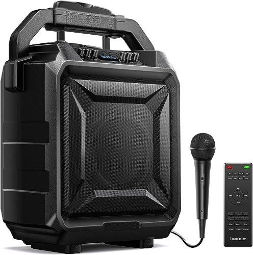 BOMAKER Sonorisation Portable, Enceinte Sono Portable Puissante, Haut-parleur Bluetooth avec Microphone, Karaoké Rech...