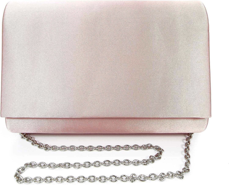 Lunar Coco Satin Clutch Bag