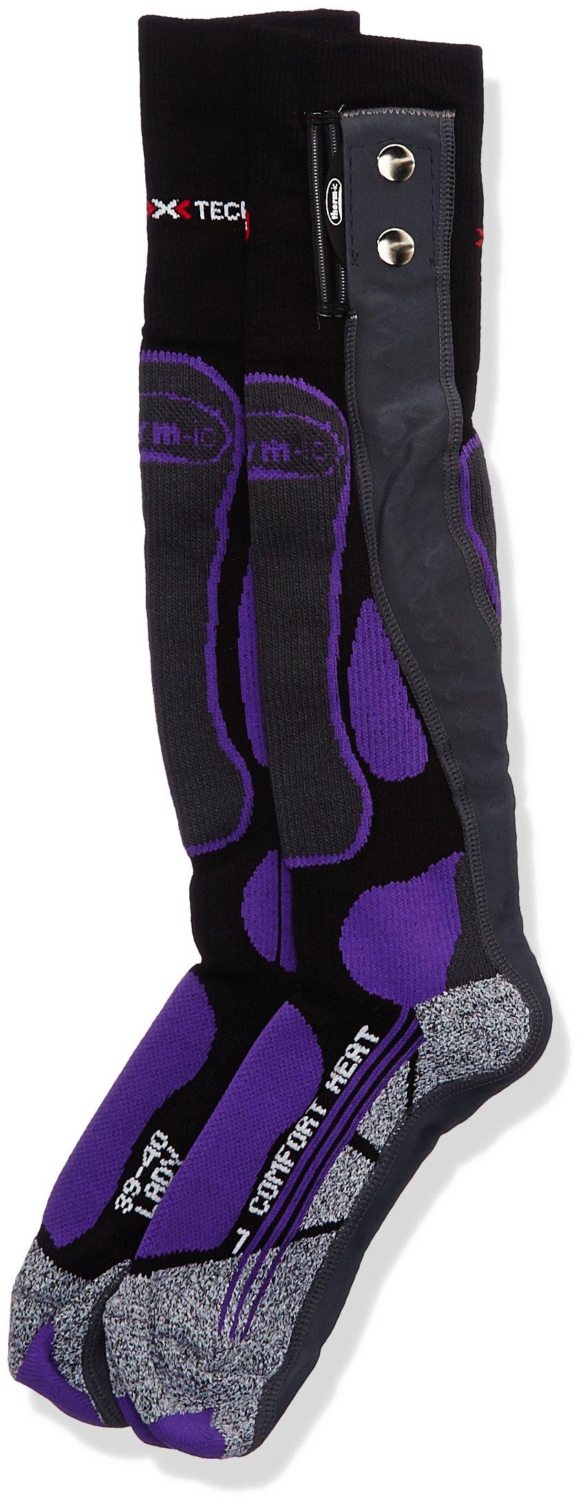 Therm-ic Damen Warme Füße Powersocks Comfort Heat Ladies 1 Pair, Purple/Black/