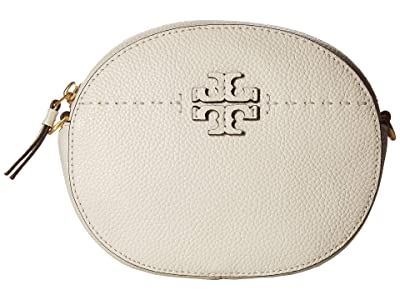 Tory Burch Mcgraw Convertible Round Crossbody (New Ivory) Cross Body Handbags